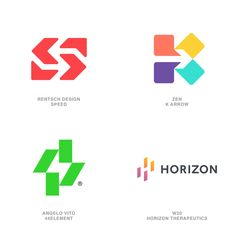 2020 LogoLounge Trend Report- Counters Logos- These logos are less about the colorfully arranged elements floating on the background but more about the negative counter space created between them. #logos #color #LogoLounge #logo #branding #design Branding Logo Design, Logo Design Trends, Best Logo Design, Logo Design Inspiration, Corporate Branding, Graphic Design, Identity Design, Brand Identity, Design Design