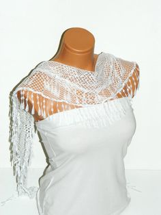 Personalized Design White Net Scarf Turkish by WomanStyleStore, $17.45
