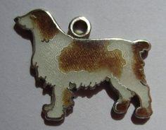 VTG STERLING SILVER ENAMEL SPRINGER SPANIEL DOG CHARM | eBay