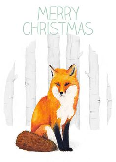 Woodland Creatures Christmas Cards. Etsy.