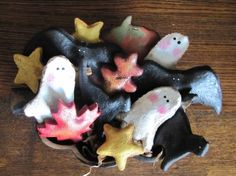 Salt Dough Figures bowl fillersorni, craft, dough idea, salt dough ornaments, fall primit, saltdough, salts, halloween, bowls