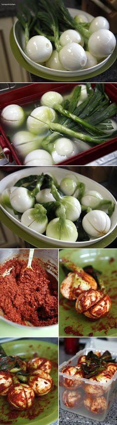 Onion Kim-chi - an interesting twist to a Korean Classic