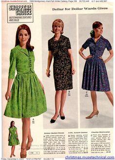 60s And 70s Fashion, Retro Fashion, Vintage Fashion, Vintage Style, Vintage 1950s Dresses, 60s Dresses, Summer Dresses, Montgomery Ward, Thing 1