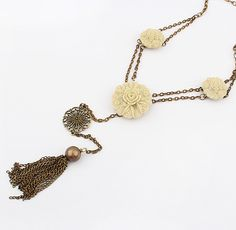 Peony Party Neo-Victorian Necklace $15.99, and matching earrings from LilyFair Jewelry.