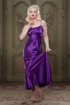 Photographer: Iberian Black Art Model: Frankii Wilde Item: Heather Silk Bettie Nightgown