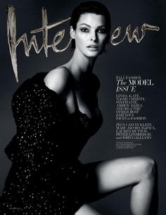 Linda Evangelista by Mert Alas & Marcus Piggott for Interview Magazine September 2013