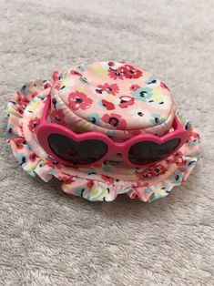 Dog Fashion Hat Size XS/S Pet Puppy Apparel Pink Little Flowers Style