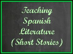 "Teaching Spanish Literature {Short Stories}: A long list of stories for Spanish students to read. Includes a free printable with map, vocab, and questions for the story ""A La Deriva""."