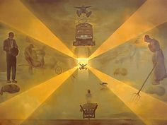 La gare de Perpignan (1965)  Huile sur toile 296x406 cm,  Salvador Dali