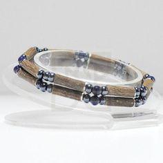 """Pure Hazelwood and Gemstone Double Bracelet - 6"""" (Ages 6+)"""