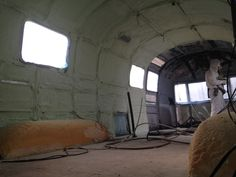 Spray foam insulation in an Airstream trailer.  http://mistahlee33.wordpress.com/