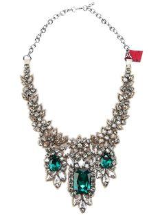 VALENTINO GARAVANI  crystal embellished necklace $750.31