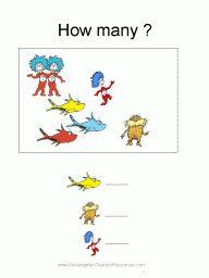 math worksheet : free printable dr seuss math worksheets numbers 1 10  kinder  : Dr Seuss Math Worksheets