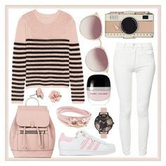 """""""Pink and White"""" by lovely-lizzye ❤ liked on Polyvore featuring Emilio Pucci, Kate Spade, adidas, Accessorize, Linda Farrow, Marc Jacobs, Olivia Burton, Salvatore Ferragamo, 1928 and Mother"""