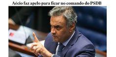 """A melhor definição que li sobre o impensável apelo de Aécio Neves para permanecer, ainda que """"licenciado"""" na presidência do PSDB, até meados de dezembro, quando se elegerá a nova Executiva do partido foi..."""