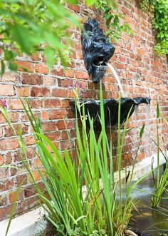Always wanted some lion action...or gargoyles. back yard wall -Garden with 'Old South' Style - Traditional Home®