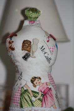 Dressmaker Form Pin Cushion Mannequin McCalls by sherimusum, $25.00