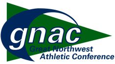 """The centerpiece of the Great Northwest Athletic Conference logo is the abbreviation """"GNAC"""" in white with blue trim. Conference Logo, Hockey Logos, Cedar City, Old Logo, Falcons, North West, Evolution, Meant To Be, Coaching"""