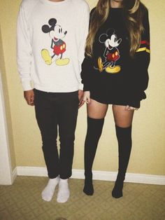 couples love fashion mickey mouse sweatshirts cute