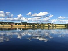 Photo taken from a boattrip on the beautiful lake Mjøsa. Beautiful World, Norway, Clouds, River, Country, Nature, Pictures, Outdoor, Photos