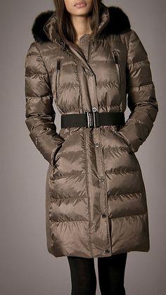 Fur Trim Quilted Coat | Burberry 38383731