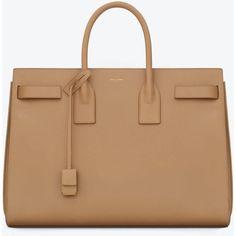 Saint Laurent Classic Sac De Jour Bag In Light Beige Leather found on Polyvore