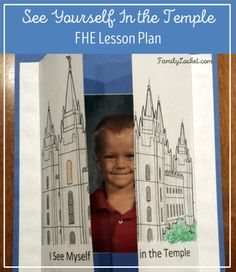 See yourself in the temple family history FHE lesson plan from Elder Cook's April 2016 conference talk. The family home evening PDF has young and older children lesson plans, activities, and printables!