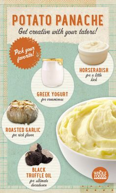 There are sooooo many things you can do to kick your mashed potatoes into high culinary gear! #holiday #potato #infographic
