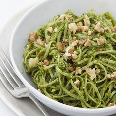 Gluten-Free Pasta With Spinach & Walnut Pesto | sheerluxe.com