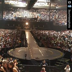 Almost... @3sunrisesphoto #u2 ・・・ The view for night two #u2ietour #USAirwaysArena