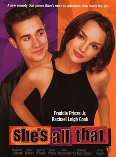 Directed by Mark Waters. With Monica Potter, Freddie Prinze Jr. A young woman is attracted to a man despite her thinking she's seen him kill someone. She's All That Movie, Love Movie, Movie Tv, She Is All That, Movies From The 90s, Classic 90s Movies, High School Movies, High School Romance, Popular Movies