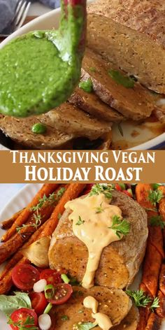 Vegan Holiday Roast a savory and delicious meatless substitute to that traditional Thanksgiving main course. Wrapped in rice paper for a crispy finish and brimming with flavorful juices. Vegan Dinner Recipes, Vegan Dinners, Whole Food Recipes, Vegan Foods, Vegan Vegetarian, Vegetarian Recipes, Thanksgiving Traditions, Vegan Thanksgiving, Cooking Videos