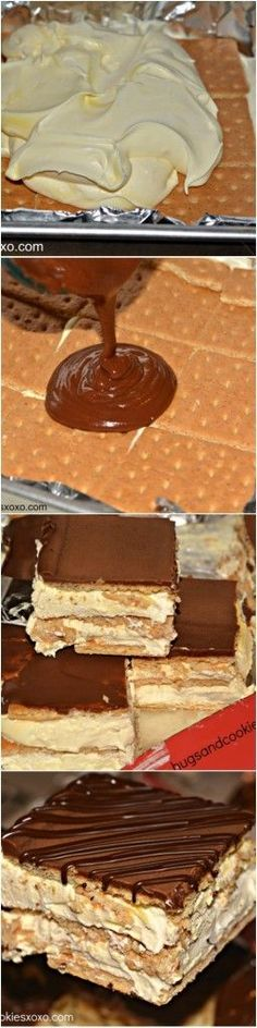 Graham crackers come together with some yummy cream and pudding creating scrumptious layers in this eclair ice box cake. Top it off with some chocolate glaze and you have a winning dessert! Eclair Ice Box Cake 15 Graham crackers, broken in half (30 squares), divided 1 pkg. (3.4 oz.) JELL-O Vanilla Flavor Instant Pudding 1-1/2cups …: