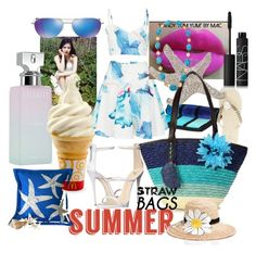 """"""""""" by xiomara-ponce ❤ liked on Polyvore featuring Calvin Klein, Giuseppe Zanotti, Maui Jim, NARS Cosmetics, Kate Spade, Kenneth Jay Lane and strawbags"""