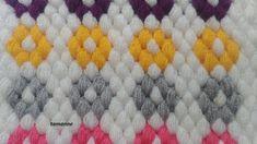 Kolay Fıstıklı Lif Modeli - YouTube Crochet Crocodile Stitch, Crochet Stitches, Easy Crochet Patterns, Crochet Designs, Manta Crochet, Crochet Baby, Crochet Table Mat, Teapot Cover, Viking Tattoo Design
