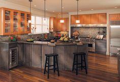 Canyon Creek Millennia - Valley Forge in Maple & VG Fir - frameless modern-kitchen