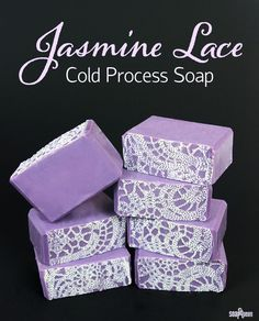 Jasmine Lace Cold Process Soap Tutorial