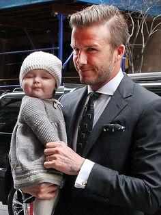 DAVID & HARPER BECKHAM photo | David Beckham