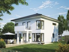 CityLife 200 - Einfamilienhaus von WeberHaus GmbH & Co. KG | HausXXL #Fertighaus #Energiesparhaus  #modern #Zeltdach