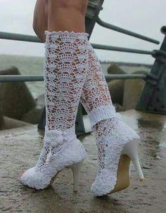 Nice hekel skoen