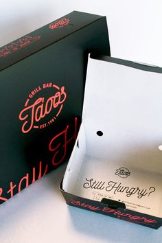 Tasos, fast food packaging black with neon | www.oghpack.gr                                                                                                                                                                                 More
