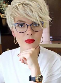 Blonde Longer Pixie