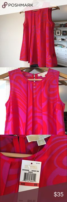 Michael Kors Blouse XS Radiant Pink Michael Kors blouse never worn. Has original tags on it. Comfortable and lightweight. Great for summer! MICHAEL Michael Kors Tops Blouses