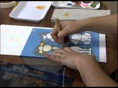 Mulher.com 18/11/2011 - Quadro em MDF pintado com estencil 1/2