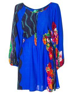 Shop2gether - Vestido Curto Prane - Farm - Azul