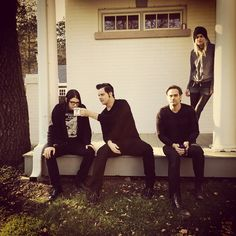 Jack Lawrence, Jack White, Dean Fertita and Alison Mosshart today, in a recording day to The Dead Weather.