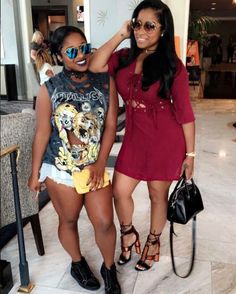 Smiles And Sunnies - 14 Photos Of Toya Wright And Reginae Carter Being Total Mother-Daughter Goals Dope Swag Outfits, Sexy Outfits, Toya Wright, Mother Daughter Photos, Black Girl Fashion, Casual Wear, Celebrity Style, Summer Outfits, Fashion Outfits