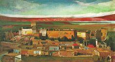 1st Hungarian Modern Artist Csontváry Kosztka, Tivadar (1853–1919), Lebanon  -  Full Scale