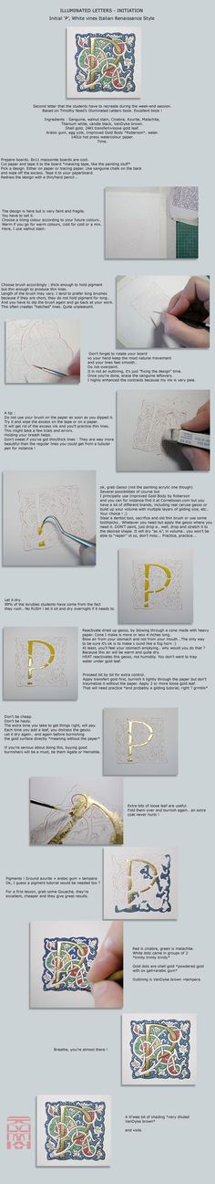 Illuminated 'P' - Tutorial #calligraphy #handlettering