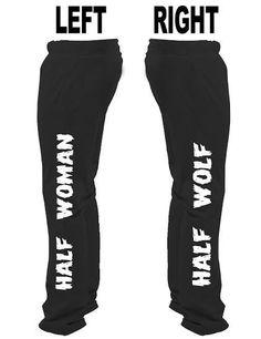 Half Woman Half Wolf Sweatpants